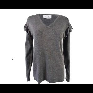 Calvin Klein ruffle sweater